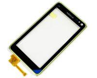 Сенсорное стекло (тачскрин) Nokia N8-00 с рамкой green original
