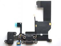 Шлейф Iphone 5 с разъемом зарядки, гарнитуры и микрофоном black